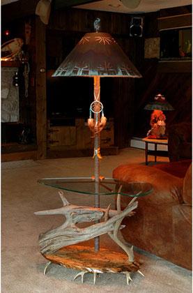 Southwest decorantler chandeliersantler lightunique lamps southwestern floor lamp with shade aloadofball Choice Image